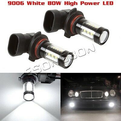 2x 9006 HB4 80W LED Fog Driving Light Lamp Super White Super Bright Projector