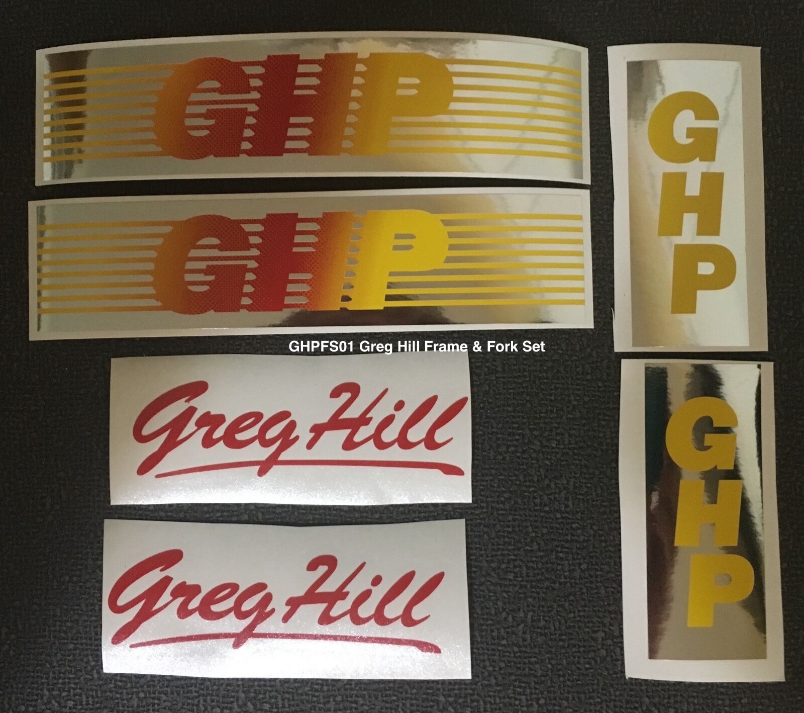 1983-84 1983-84 1983-84 GHP FRAME DECAL SET - For Restoration 8b3442