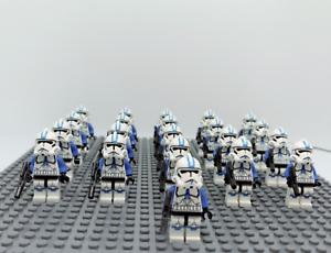 21Pcs-Minifigures-Star-Wars-Blue-Clone-Trooper-501st-Clone-Army-Trooper-Lego-MOC