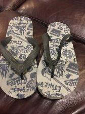 New Etnies  Mens Flip Flop Sandals Black Large 11/12 Grey