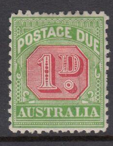 Australie En Port Dû:1909 1d Rosine & Jaune-vert Die Ii Sgd64b Mint-afficher Le Titre D'origine