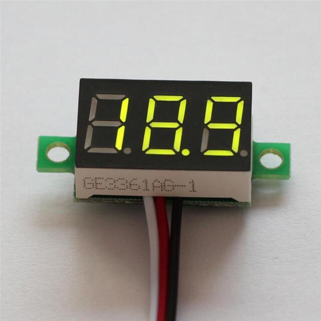 DC 2.5-32V LED Panel Voltage Meter 3-Digital Display Voltmeter Motor Motorcycle