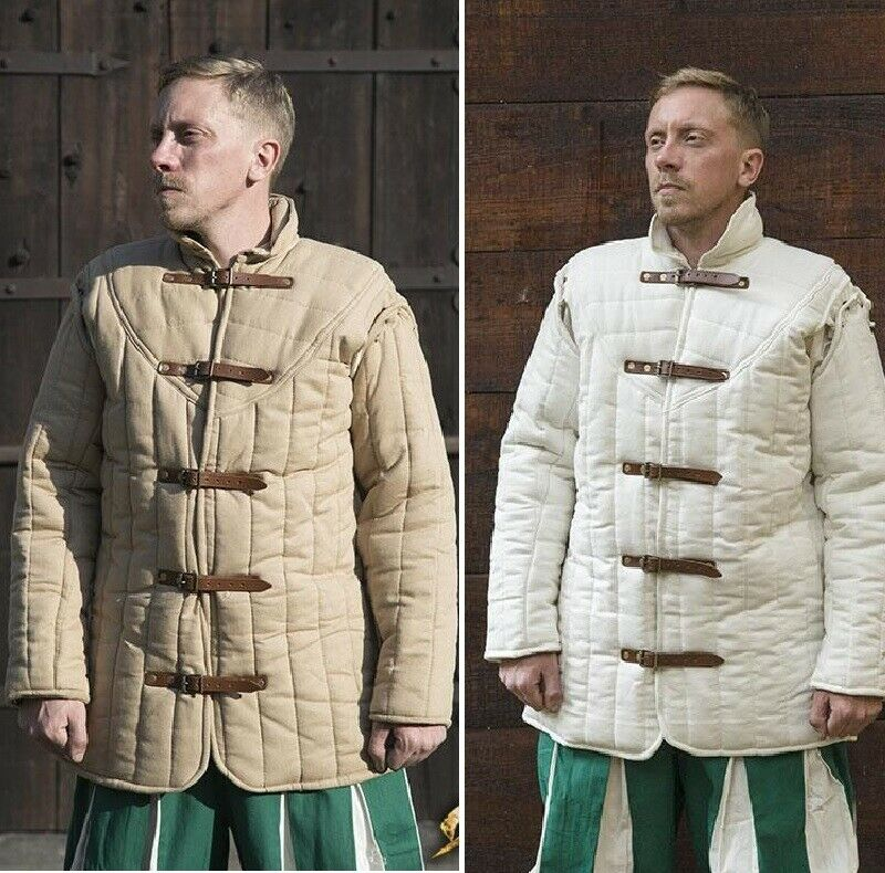 Warrior Gambeson Padded Long-Sleeve Coat for Costume, Stage, Re-enactment & LARP