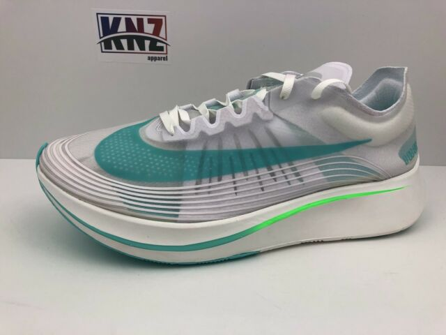 """save off d9206 44dc9 Men s NIKE ZOOM FLY SP """"Rage Green"""" size 12 White Blue Green (AJ9282"""
