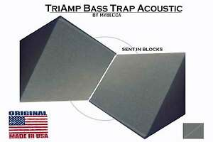2-PACK-TriAmp-Corner-Acoustic-Bass-Trap-for-Studio-Soundproofing-10x10x12x15-in