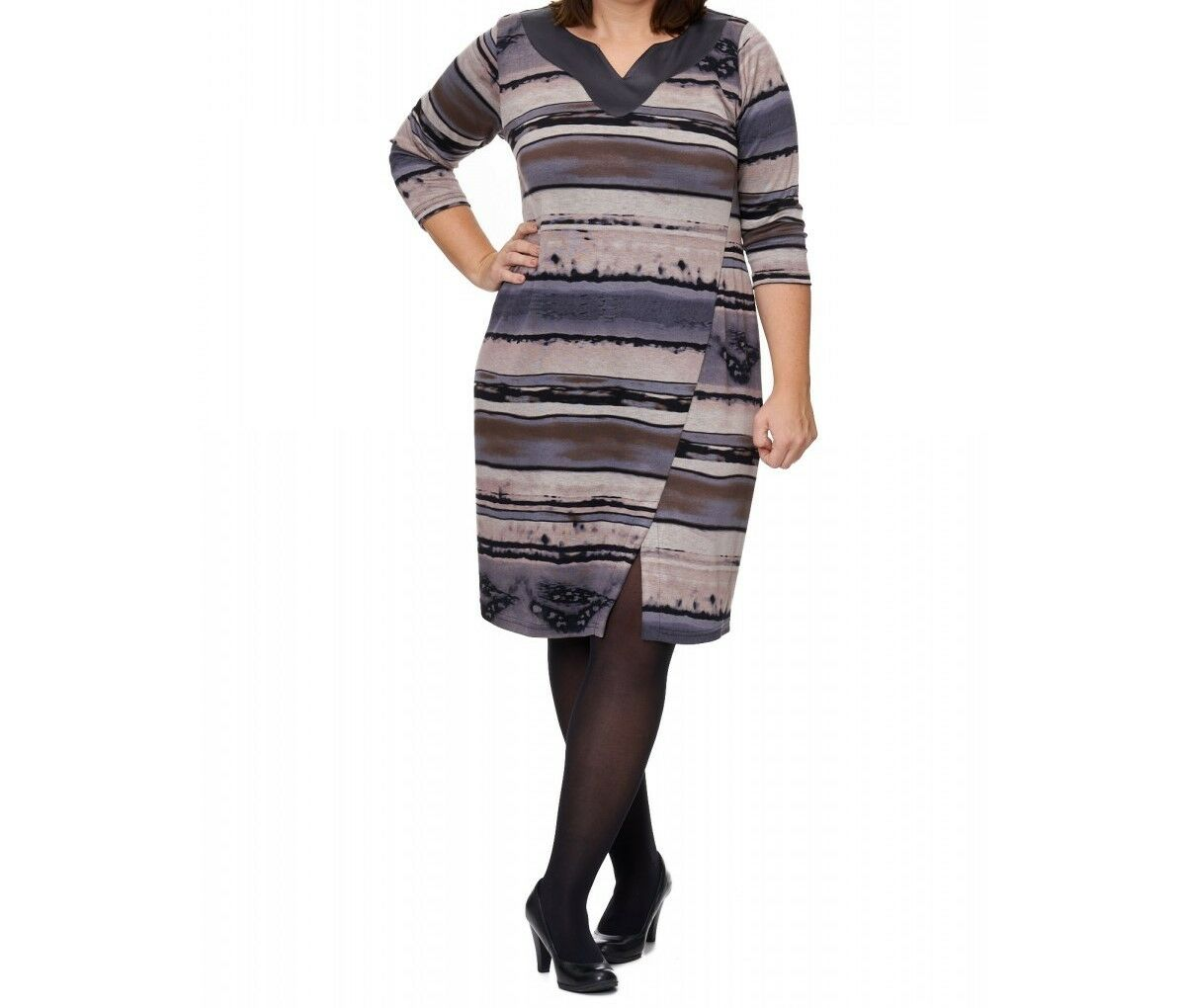 OPHILIA  elegantes Traum Kleid mehrfarbig, Lederimitat, 52 - 54 anstatt
