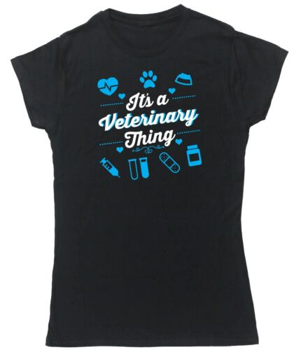 It/'s a veterinary thing t-shirt womens fitted short sleeve vet animals