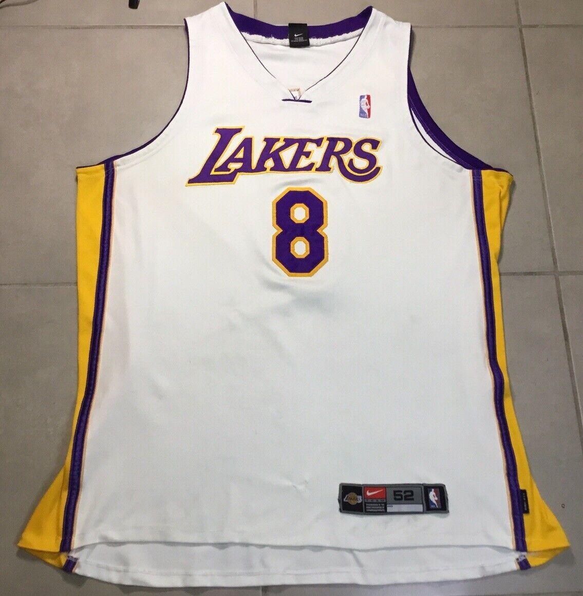Vtg Nike Kobe Bryant #8 Los Angeles Lakers Authentic Sz 52 Jersey ...