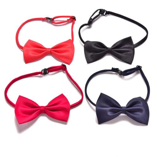 Boys Kids Children Toddler  Infant Solid Bowtie Pre Tied Wedding-Bow Tie Necktie