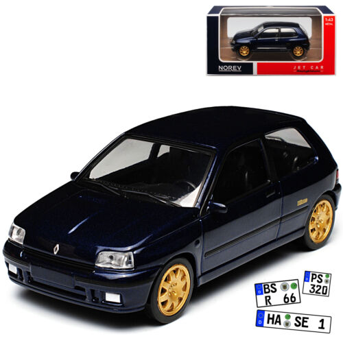 Renault Clio Williams I 1 Generation 3 Türer Blau 1990-1998 Jet Car 1//43 Norev