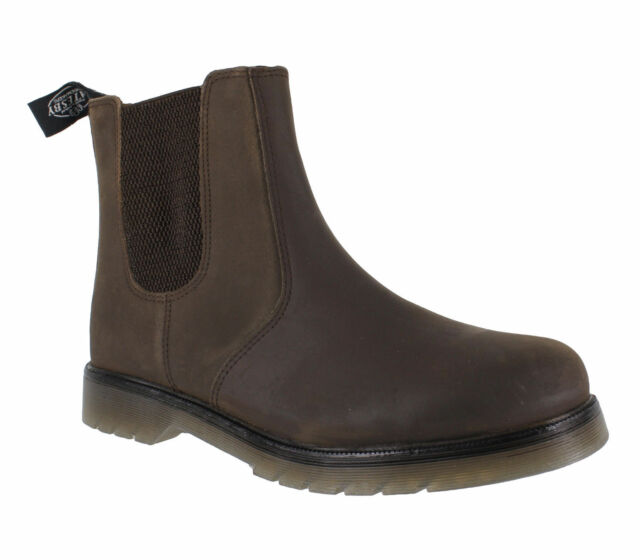 Catesby Mens Smart Brown Leather Dealer Chelsea Boots