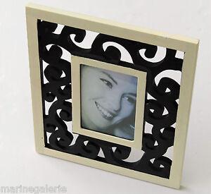 cadre photo noir 10x15 d co moderne art floral poser aspect brut ajour 33cm ebay. Black Bedroom Furniture Sets. Home Design Ideas