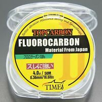 Fluorocarbon Fishing Line 18.6lb/50m Color Clear Material From Japan