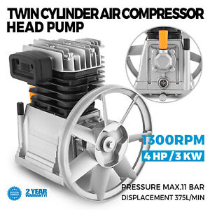 Pompe-a-Tete-de-Compresseur-d-039-air-375L-3KW-Tete-de-Pompe-a-Double-Cylindre-CE