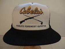 item 2 Men s Black Cabela s World s Foremost Outfitter Mesh Trucker  Snapback Cap Hat -Men s Black Cabela s World s Foremost Outfitter Mesh  Trucker Snapback ... dba5886760f