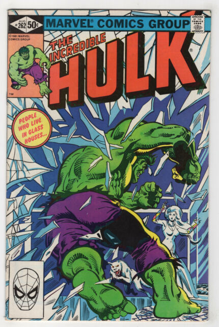 The Incredible Hulk #262 (Aug 1981, Marvel) Bill Mantlo Sal Buscema X