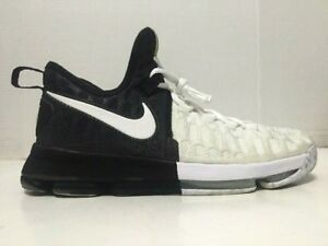 new product 232bd 6aaf9 Details about Nike Zoom KD 9 BHM Black History Month Black White Mens  860637-100 Size 11