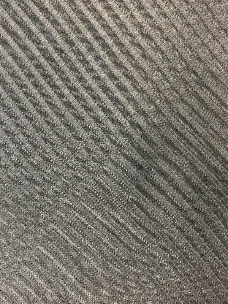 Arrow USA 1851 Schwarze Streifen Einfarbig Seidenkrawatte Krawatte MAP1221A #R23