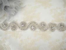 Vintage Crystal Wedding Belt Rhinestone Bridal Sash Accessory Any Colour Ribbon
