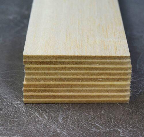 WWS Balsa Wood Sheets 75 x 305 x 3.2 mm (3 x 12 x 1/8 inch) - 9 Pack – Model