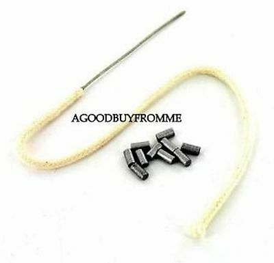 IMCO LIGHTER EASY FEED WIRE END WICK + 10 FLINTS FOR PETROL LIGHTERS FREE UK P&P
