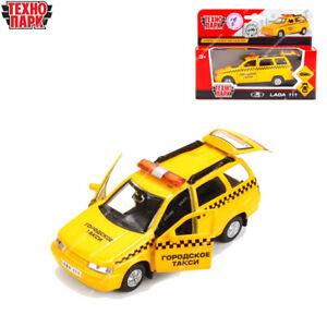 Tehnopark Diecast véhicules échelle 1:36 Taxi LADA 2111 Russian Toy Cars 12 cm