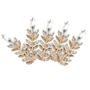 5x Crown Shape Alloy Rhinestone Flatback Buttons Scrapbooking Embellishments