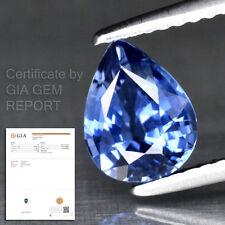 1.32ct Natural Blue Sapphire UNHEATED New VVS Sri Lanka GIA Report