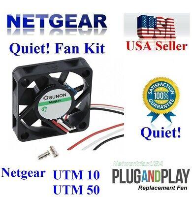 Lot 5x new Quiet fans NETGEAR ProSAFE GS748TP Low noise best for Home Networking