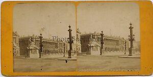 Place Da La Concorde Parigi Francia Stereo Vintage Albumina Ca 1880