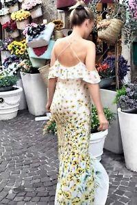 M Longue 151 2522 Ref Robe Taille S Floral Zara Été YAnpqTF