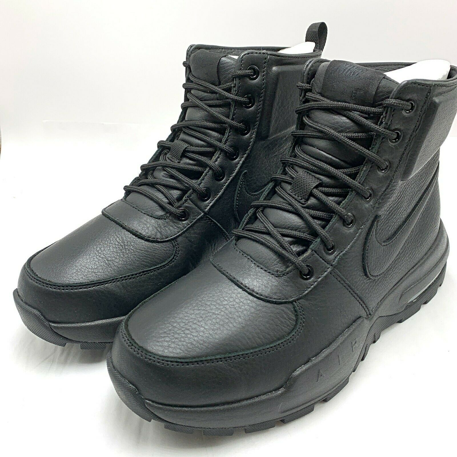 Nike Air Max Goaterra 2.0 Mens 916816 001 Black Leather Waterproof BOOTS Size 9