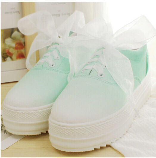 Canvas Summer Womens Platform Gilrs Preppy Shoes Mutil Colors Sneakers Casual