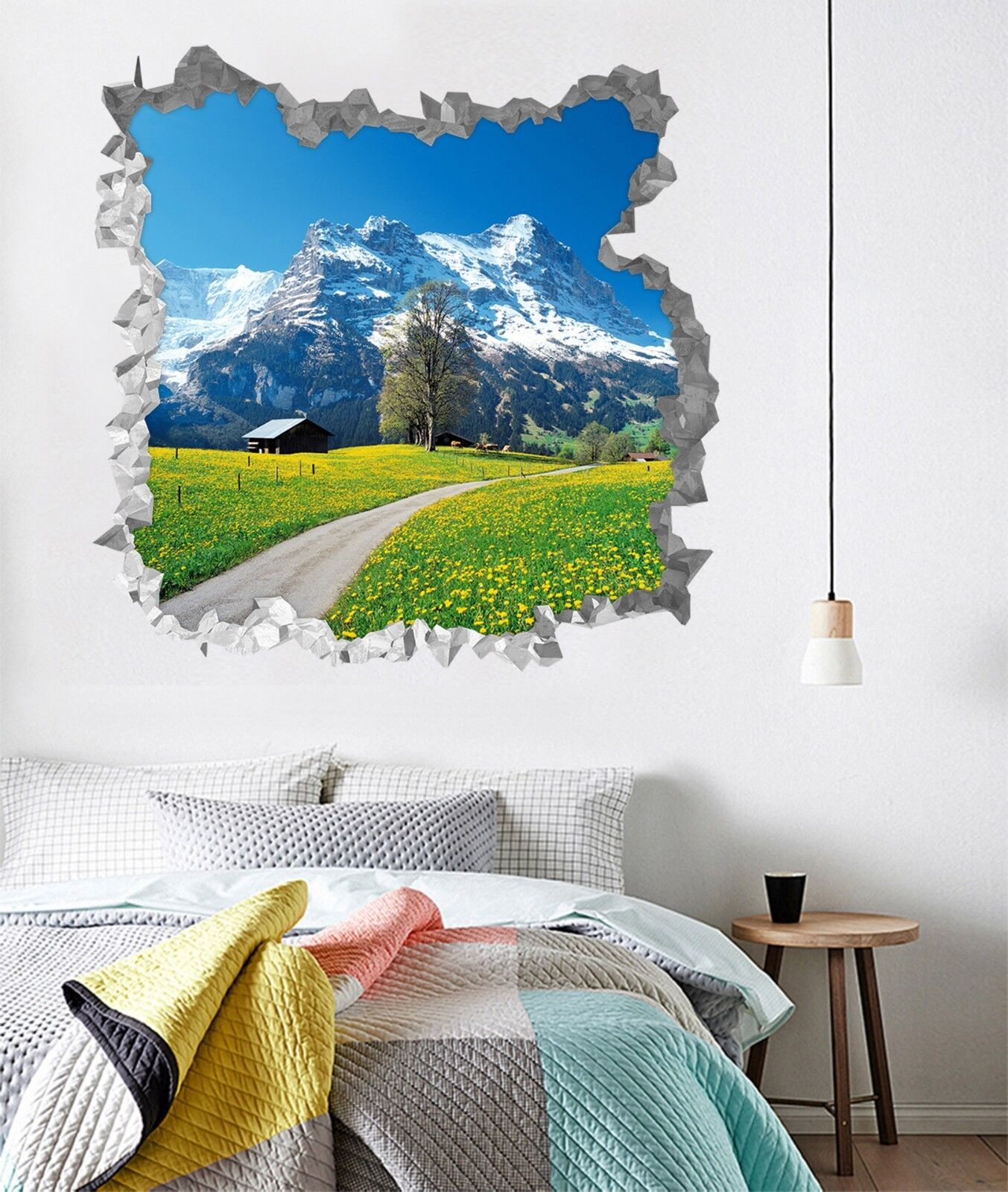 3D Bergbluemen 321 Mauer Murals Mauer Aufklebe Decal Durchbruch AJ WALLPAPER DE