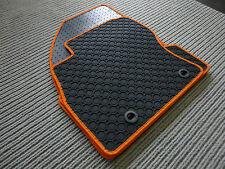 Lengenfelder Gummimatten für Smart ForTwo 453 + RAND ORANGE + Gummi - Fußmatten