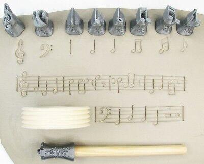 Pottery texturing ceramic clay tools Rélyéf set of card symbols stamps