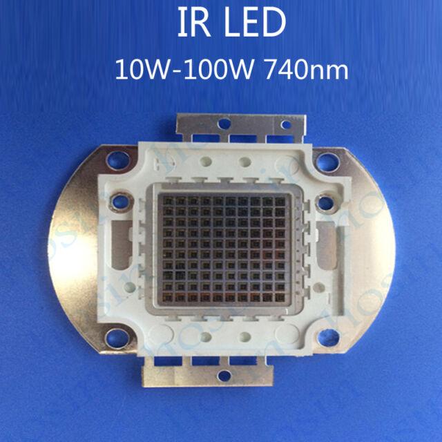 10W-100W High Power LED 740nm Far Red Led Chip IR LED Diode Infrared LED Emitter