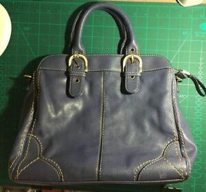 Jane Shilton Leather Handbag Blue Ebay