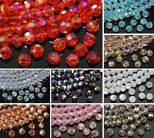 Wholesale 80pcs Glass Crystal Faceted Rondelle Spacer Loose Beads 6mm/8mm