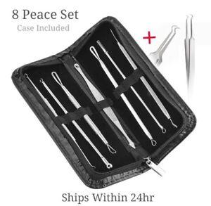 8-Pcs-Blackhead-Pimple-Blemish-Acne-Extractor-Remover-Tool-Kit-Curved-Tweezers