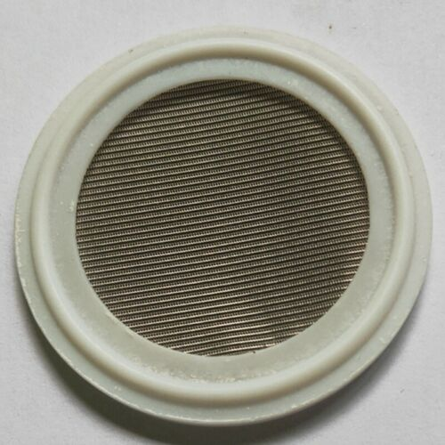 """1.5/"""" Sanitary PTFE Tri-Clamp Screen Gasket Stainless Steel SS304L 150 Mesh"""