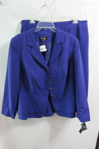 Blazer amp; Purple Women's Skirt Size 711956098323 Suit 16w Emily New Y7xqXP