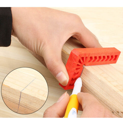 90 Degree L Shape Corner Plastic Ruler Clamping Square Right Angle Clamps