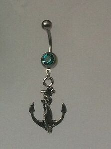 ANCHOR-Belly-Bar-dangle-Choice-of-colour-UK-made-Free-1St-C-Class-Post
