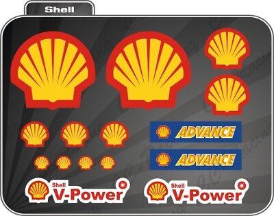 2019 Nuovo Stile 14 Adesivi Shell Advance Vari Formati Sponsor Moto Auto In Corto Rifornimento