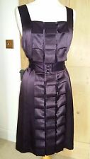 Stylish Phase Eight Plum / Purple / Aubergine Silk Folds Dress UK Size 12 NWT