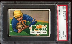 1951-Bowman-Football-52-FLOYD-REID-Green-Bay-Packers-RC-ROOKIE-PSA-8-NM-MT