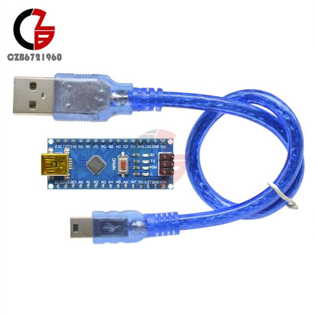 Mini USB Nano V3.0 ATmega328 5V 16M CH340G Micro-Controller Board +Cable Arduino