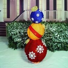"""50"""" Lighted Pop-up Ornaments Stack Outdoor Christmas Decor"""