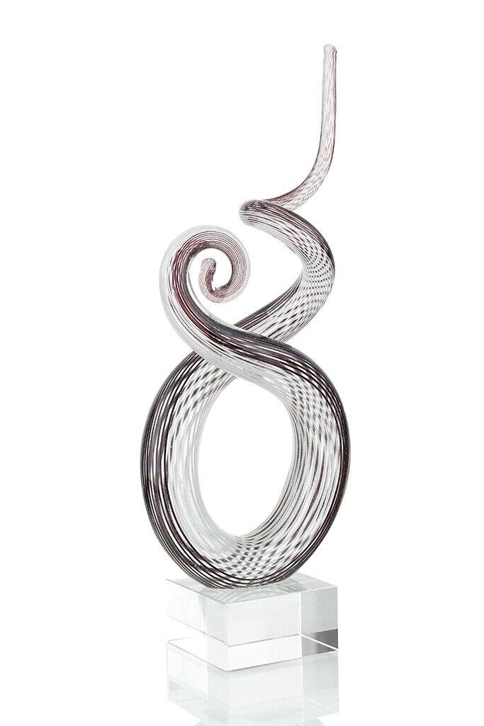 Designer Skulptur aus Glas 26x13cm Hochwertiges Unikat Design Glasskupltur
